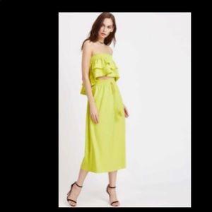 Summer Crop Top Skirt Set